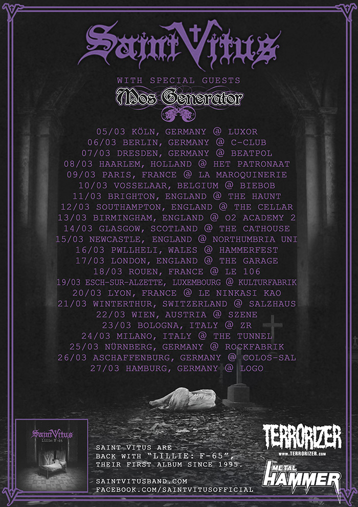 Saint Vitus 2013 European Tour